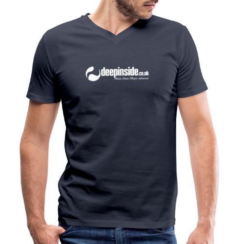 DEEPINSIDE World Reference logo white - Men's Organic V-Neck T-Shirt by Stanley & Stella