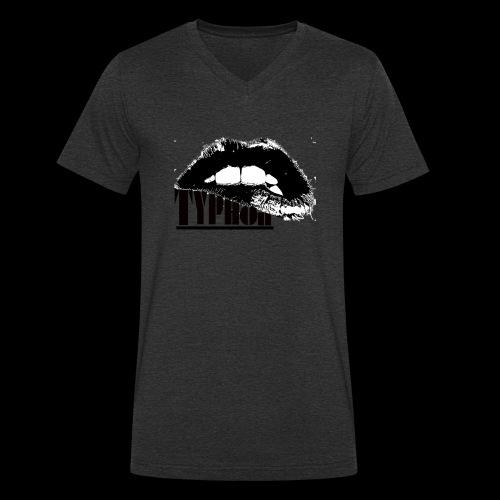 Typhon Original Logo - Men's Organic V-Neck T-Shirt by Stanley & Stella