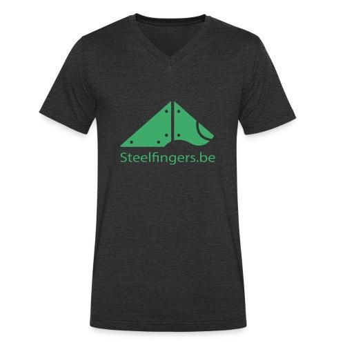 Steelfingers shirts - Mannen bio T-shirt met V-hals van Stanley & Stella