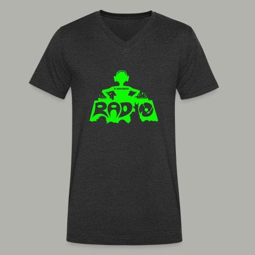DJ Producer T-Shirt E-Rocker - Männer Bio-T-Shirt mit V-Ausschnitt von Stanley & Stella