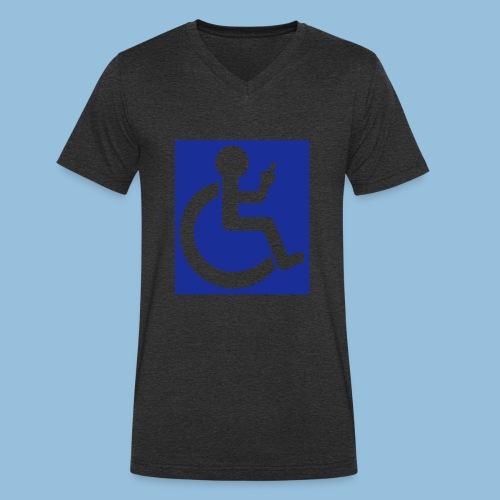 VINGER - Mannen bio T-shirt met V-hals van Stanley & Stella