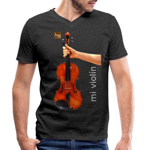 MI violín - Camiseta ecológica hombre con cuello de pico de Stanley & Stella