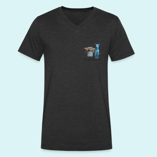 Laly-Blue - Men's Organic V-Neck T-Shirt by Stanley & Stella