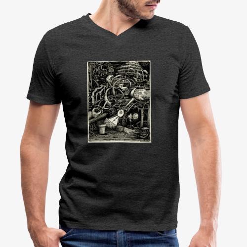 Garden of madness - Men's Organic V-Neck T-Shirt by Stanley & Stella