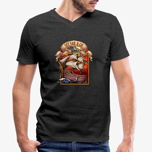 L'explorateur - T-shirt bio col V Stanley & Stella Homme