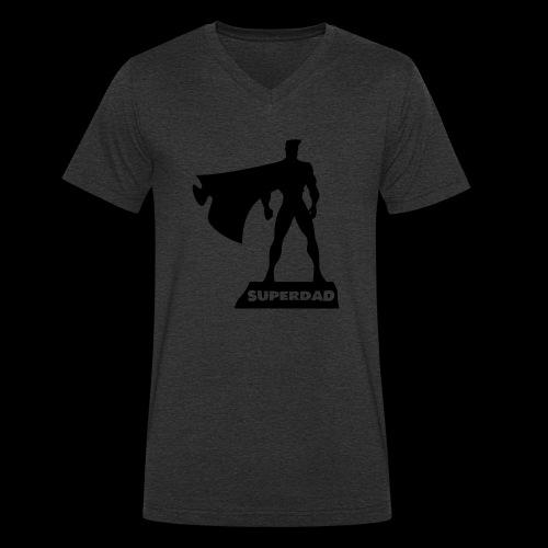 Superdad - Männer Bio-T-Shirt mit V-Ausschnitt von Stanley & Stella