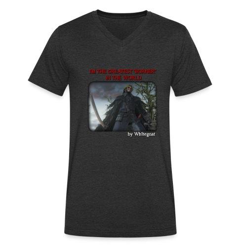 BERTOLDO SHIRT CROP png - T-shirt ecologica da uomo con scollo a V di Stanley & Stella