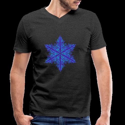 Schneeflocke III - Männer Bio-T-Shirt mit V-Ausschnitt von Stanley & Stella