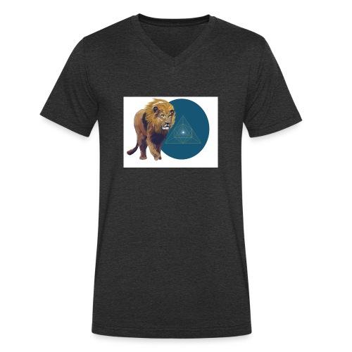 Löwe - Männer Bio-T-Shirt mit V-Ausschnitt von Stanley & Stella