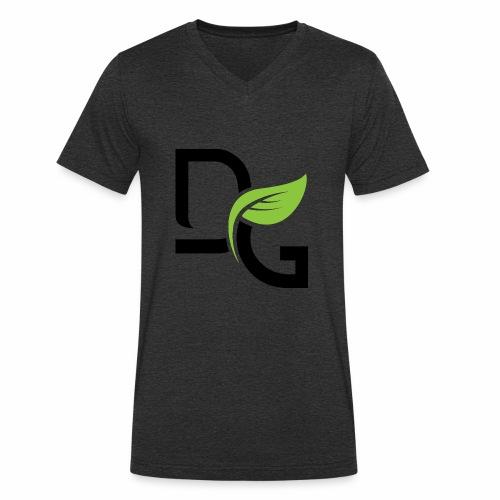 DrGreen Logo Symbol schwarz grün - Männer Bio-T-Shirt mit V-Ausschnitt von Stanley & Stella