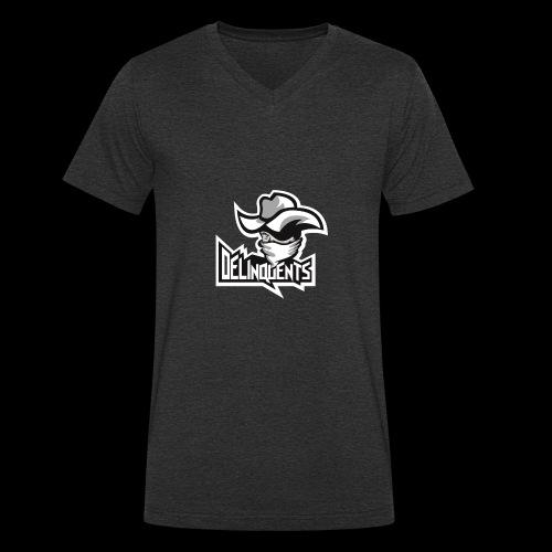 Delinquents TriColor - Økologisk Stanley & Stella T-shirt med V-udskæring til herrer