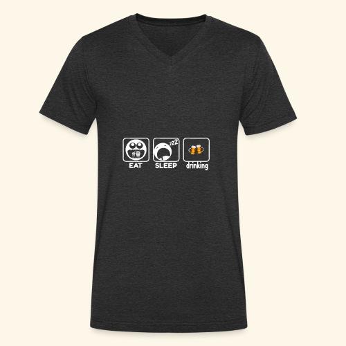 Birra - T-shirt ecologica da uomo con scollo a V di Stanley & Stella
