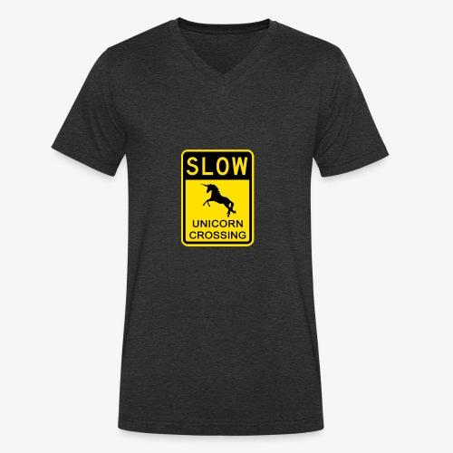 Ralentir ! Passage de licorne - T-shirt bio col V Stanley & Stella Homme