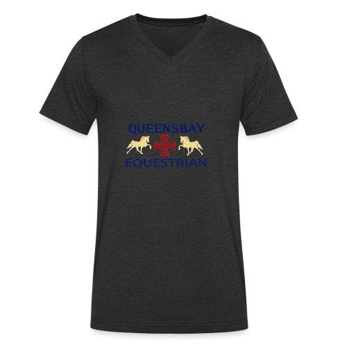 Queensbay Equestrian logo - Mannen bio T-shirt met V-hals van Stanley & Stella