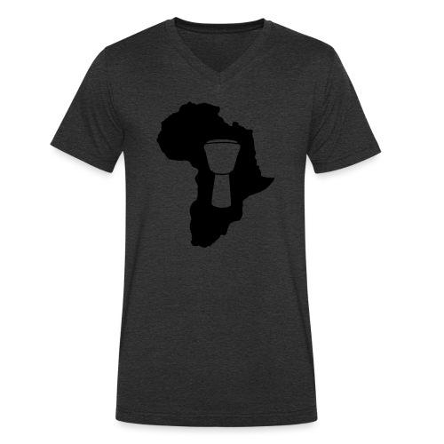 Djembe in Afrika - Männer Bio-T-Shirt mit V-Ausschnitt von Stanley & Stella