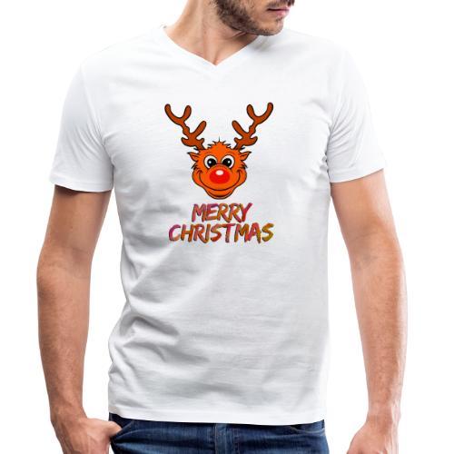 Rudolph - Männer Bio-T-Shirt mit V-Ausschnitt von Stanley & Stella
