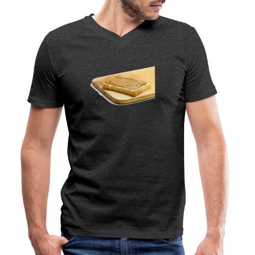 Pindaplankje Shirt - Mannen bio T-shirt met V-hals van Stanley & Stella