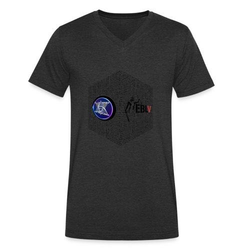 disen o dos canales cubo binario logos delante - Men's Organic V-Neck T-Shirt by Stanley & Stella