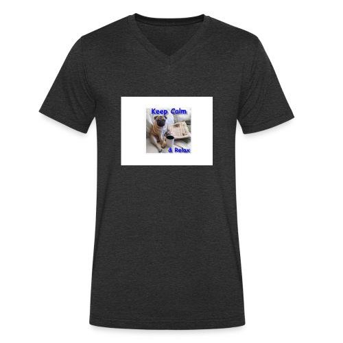 relax - Mannen bio T-shirt met V-hals van Stanley & Stella