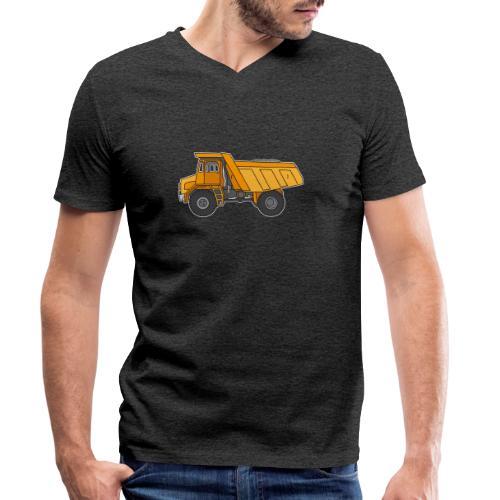 Kipplaster, Muldenkipper - Männer Bio-T-Shirt mit V-Ausschnitt von Stanley & Stella
