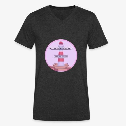 Histaminintoleranz – Land in Sicht - Männer Bio-T-Shirt mit V-Ausschnitt von Stanley & Stella