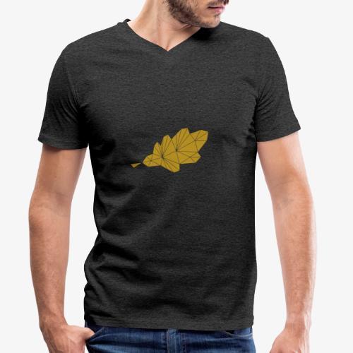 Eiche Blatt geometrisch - Männer Bio-T-Shirt mit V-Ausschnitt von Stanley & Stella