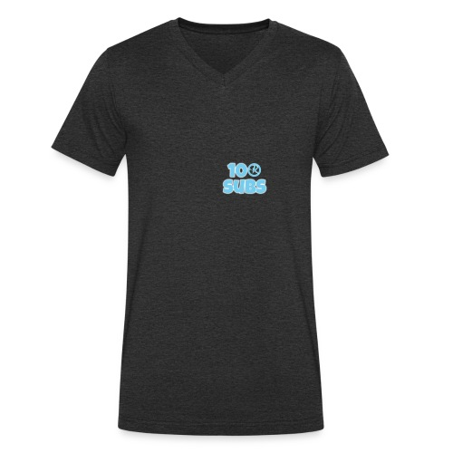 100 subs merch - Men's Organic V-Neck T-Shirt by Stanley & Stella