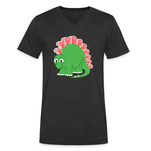 Steakosaurus - Männer Bio-T-Shirt mit V-Ausschnitt von Stanley & Stella