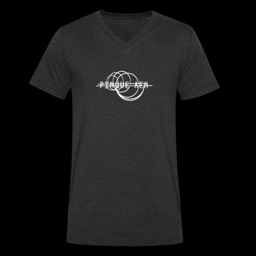 Pinque AEM Bianco - T-shirt ecologica da uomo con scollo a V di Stanley & Stella