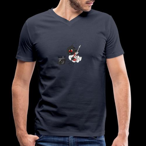 logo guitar - T-shirt bio col V Stanley & Stella Homme