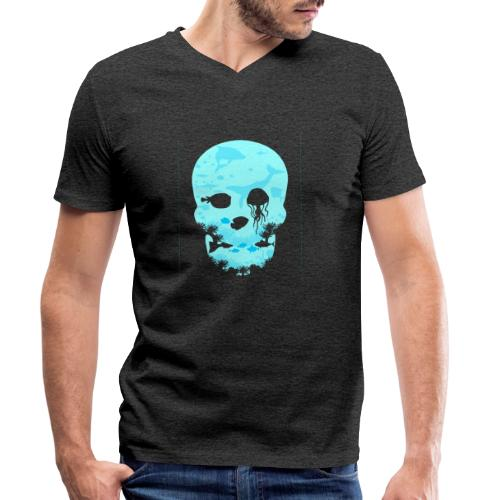 Dead Sea Tshirt ✅ - Männer Bio-T-Shirt mit V-Ausschnitt von Stanley & Stella