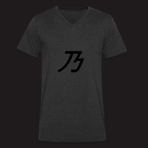 B Logo - Økologisk Stanley & Stella T-shirt med V-udskæring til herrer