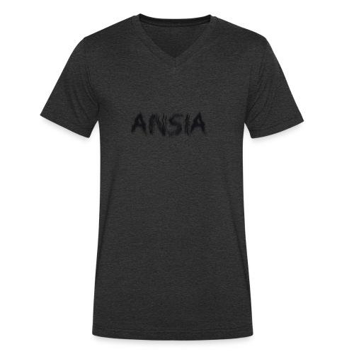 ansia - T-shirt ecologica da uomo con scollo a V di Stanley & Stella