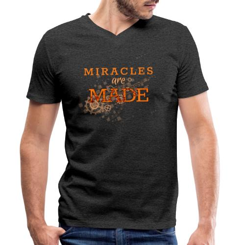 Miracles are Made - Men's Organic V-Neck T-Shirt by Stanley & Stella