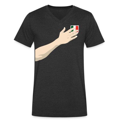 Hand-italy - T-shirt ecologica da uomo con scollo a V di Stanley & Stella