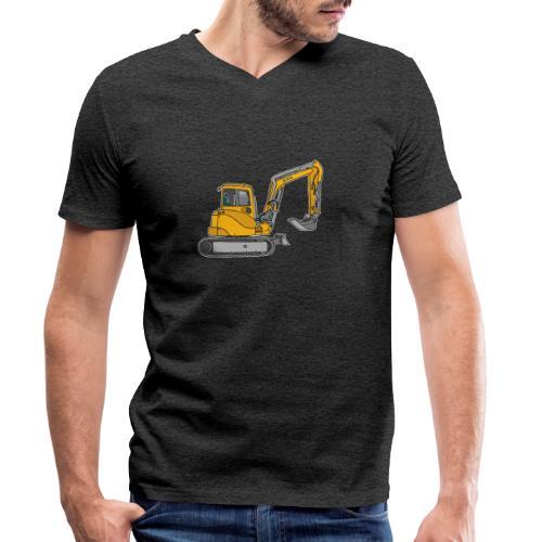 BAGGER, gelbe Baumaschine mit Schaufel und Ketten - Männer Bio-T-Shirt mit V-Ausschnitt von Stanley & Stella