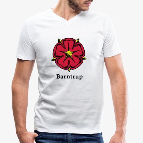 Lippische Rose mit Unterschrift Barntrup - Männer Bio-T-Shirt mit V-Ausschnitt von Stanley & Stella