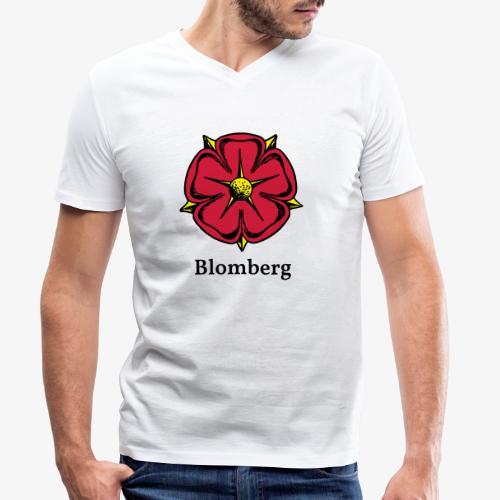 Lippische Rose mit Unterschrift Blomberg - Männer Bio-T-Shirt mit V-Ausschnitt von Stanley & Stella
