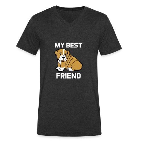 My Best Friend - Hundewelpen Spruch - Männer Bio-T-Shirt mit V-Ausschnitt von Stanley & Stella