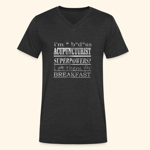 ACUPUNCTURIST - T-shirt ecologica da uomo con scollo a V di Stanley & Stella
