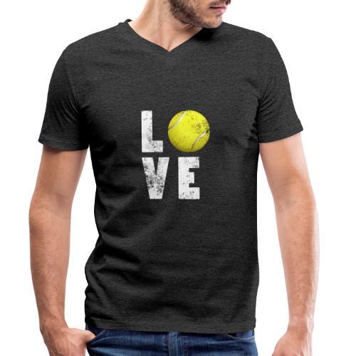 LoveTennis Shirt Ideal Gift For Tennis Players - Camiseta ecológica hombre con cuello de pico de Stanley & Stella