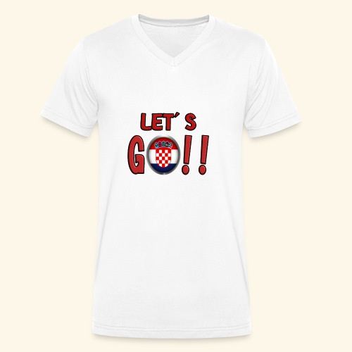 Go Croatia - T-shirt ecologica da uomo con scollo a V di Stanley & Stella