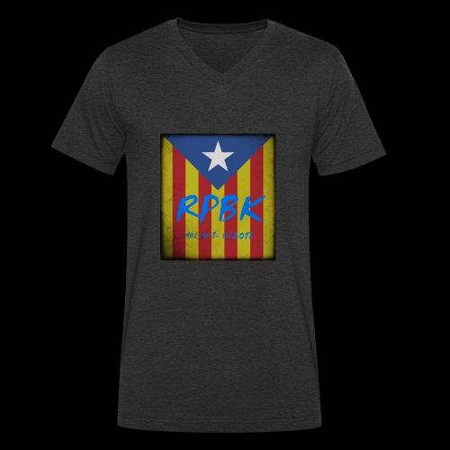 ANTIGA REPUBLICA - Camiseta ecológica hombre con cuello de pico de Stanley & Stella