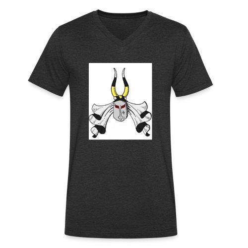 Hude-Wappen - Männer Bio-T-Shirt mit V-Ausschnitt von Stanley & Stella