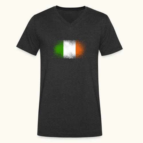 Irland Grunge irische Flagge lustig Geschenk Ire - T-shirt bio col V Stanley & Stella Homme