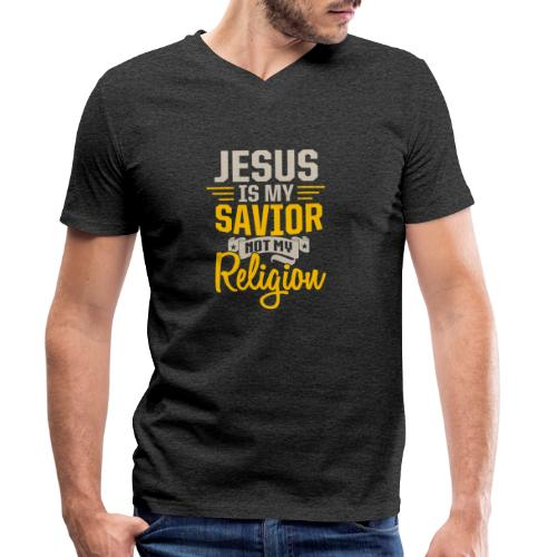 Jesus ist mein Erlöser - Männer Bio-T-Shirt mit V-Ausschnitt von Stanley & Stella