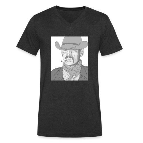 Retrato de vaquero con sombrero - Camiseta ecológica hombre con cuello de pico de Stanley & Stella
