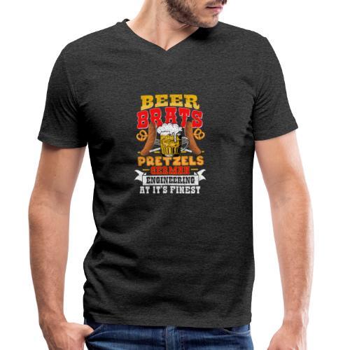 Bier, Bratwurst, deutsches... - Männer Bio-T-Shirt mit V-Ausschnitt von Stanley & Stella