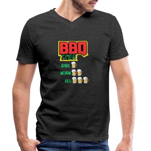 BBQ Timer BIER - Männer Bio-T-Shirt mit V-Ausschnitt von Stanley & Stella