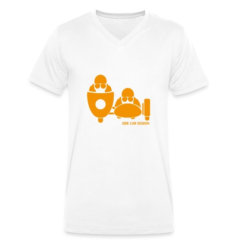 BASSET LOGO orange - T-shirt bio col V Stanley & Stella Homme